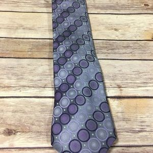 Purple and grey men's van heusen tie